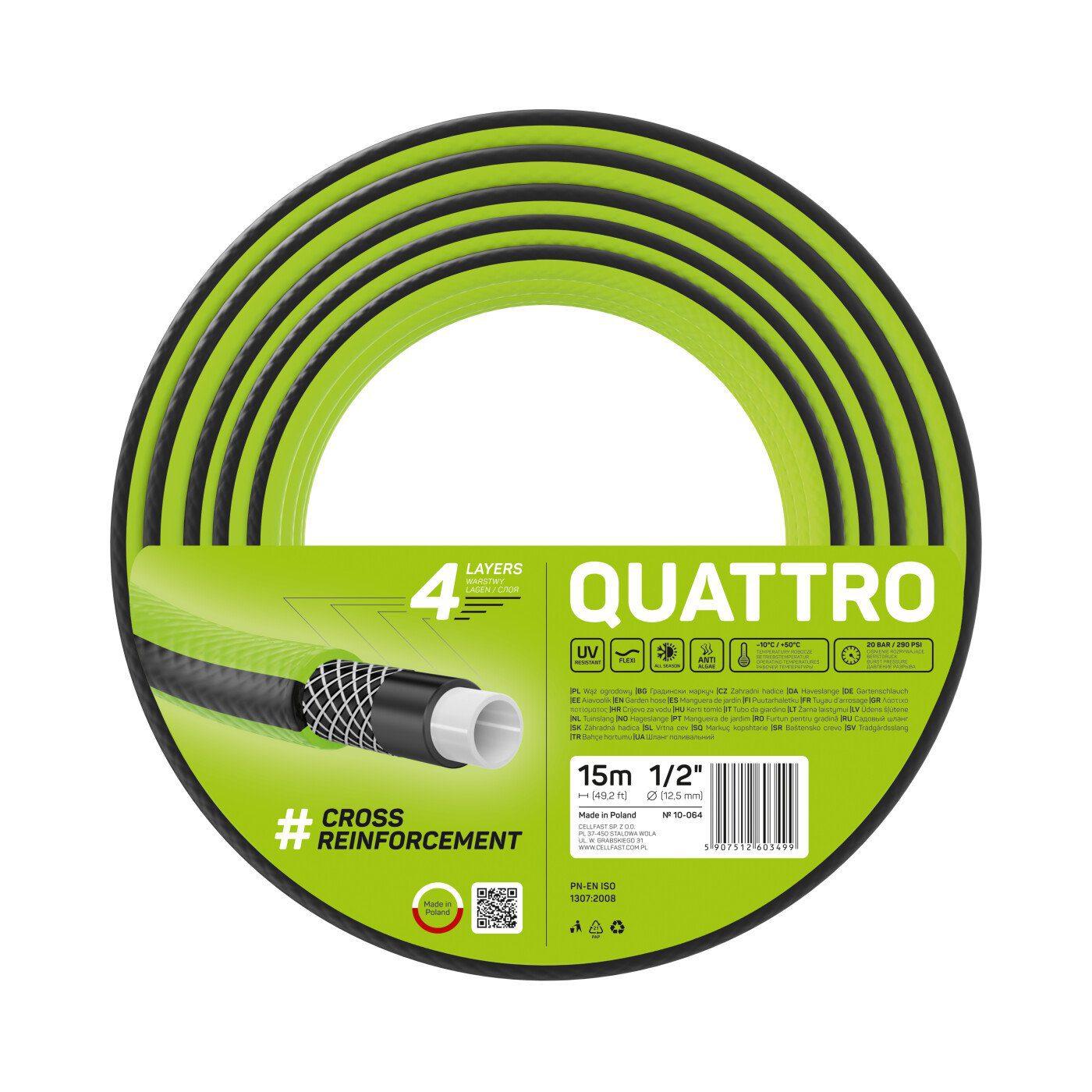 Cellfast Wąż ogrodowy QUATTRO